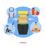 Healthy Lifestyle and Fitness Concept Royalty Free Stock Image