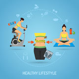 Healthy Lifestyle and Fitness Concept Stock Images