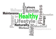 Healthy lifestyle fitness concept word cloud Royalty Free Stock Photo