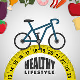 Healthy lifestyle fitness design Stock Image