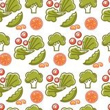 Healthy lifestyle and fitness food nutrition and drinks seamless pattern. royalty free illustration