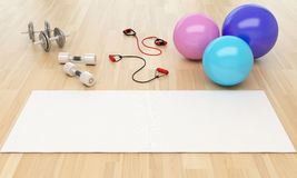 Healthy Lifestyle and Fitness Pilates Concept Royalty Free Stock Photo