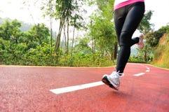 Healthy lifestyle fitness sports woman legs runnin Stock Image