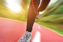 Healthy lifestyle fitness sports woman legs runnin Stock Photo