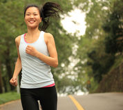 Healthy lifestyle fitness sports woman running Stock Images