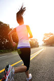 Healthy lifestyle fitness sports woman running leg Royalty Free Stock Photography