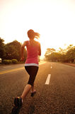 Healthy lifestyle fitness sports woman running Stock Photos