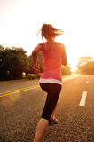 Healthy lifestyle fitness sports woman running Stock Photo