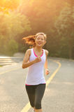 Healthy lifestyle fitness sports woman running Stock Photography