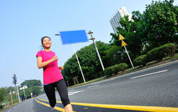 Healthy lifestyle fitness sports woman running Royalty Free Stock Photos
