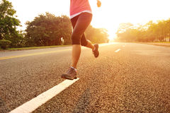 Healthy lifestyle fitness sports woman running Royalty Free Stock Photo