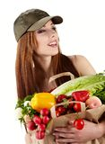 Healthy lifestyle fruit shopping Stock Image
