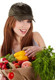 Healthy lifestyle fruit shopping Royalty Free Stock Photos