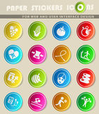 Healthy lifestyle icon set Royalty Free Stock Images