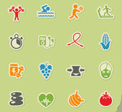 Healthy lifestyle icon set Stock Images