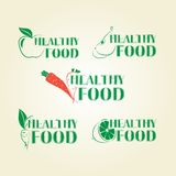 Healthy lifestyle icons Royalty Free Stock Image
