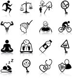 Healthy lifestyle icons Royalty Free Stock Photo