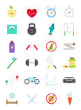 Healthy lifestyle  icons set. Set of 24 healthy lifestyle  icons Royalty Free Stock Image