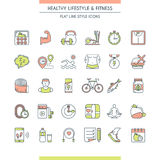 Healthy lifestyle icons set Royalty Free Stock Photo