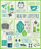 Healthy lifestyle Icons set. Vector illustration Royalty Free Stock Photos