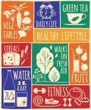 Healthy lifestyle Icons set Royalty Free Stock Image