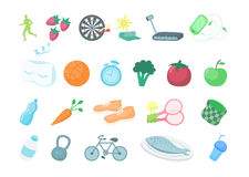 Healthy lifestyle icons. Royalty Free Stock Image