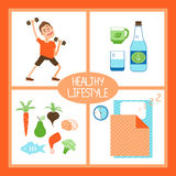 Healthy Lifestyle illustration Stock Photos