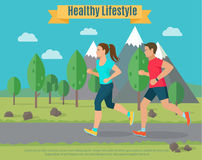 Healthy lifestyle illustration Stock Photo