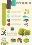 Healthy lifestyle infographic Royalty Free Stock Photo