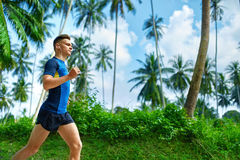 Healthy Lifestyle. Jogger Running. Sporty Runner Man Jogging. Sp Stock Image