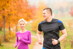 Healthy lifestyle - jogging. Royalty Free Stock Images