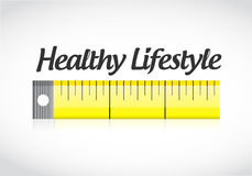 Healthy lifestyle measuring tape concept. Illustration design graphic Royalty Free Stock Images