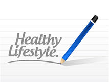 Healthy lifestyle message illustration Stock Images