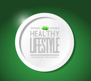 Healthy lifestyle natural food illustration Stock Images