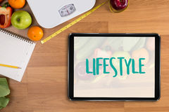 Healthy lifestyle online webpage cool eating healthy food Invest Royalty Free Stock Photos
