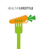 Healthy lifestyle. Over white background vector illustration Royalty Free Stock Photography