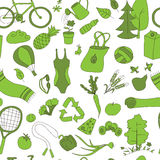 Healthy lifestyle pattern green Stock Photo
