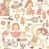Healthy lifestyle pattern Stock Photo