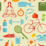 Healthy lifestyle pattern Royalty Free Stock Images