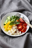 Healthy lifestyle salad on plate Stock Image