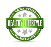 healthy lifestyle seal illustration design Royalty Free Stock Image