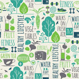 Healthy lifestyle seamless background Stock Image