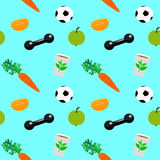 Healthy lifestyle seamless pattern Royalty Free Stock Images