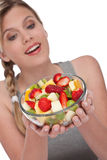 Healthy lifestyle series - Bowl of fruit salad Royalty Free Stock Photos