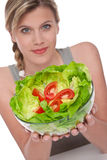 Healthy lifestyle series - Bowl of lettuce Stock Photography