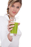 Healthy lifestyle series - Glass of kiwi juice Stock Image