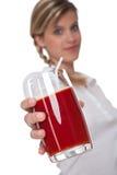 Healthy lifestyle series - Glass of tomato juice Stock Photos
