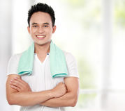 Healthy lifestyle Smiling man Stock Photography
