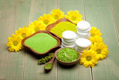 Healthy lifestyle - Spa minerals Royalty Free Stock Photo