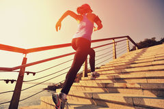 Healthy Lifestyle Sports Woman Running Stock Photo